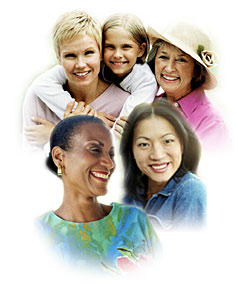Picture of women of various ages and races